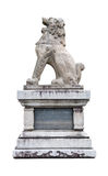 Japan Imperial Lion Statue. Isolated on white background Royalty Free Stock Image
