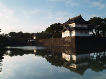 Japan. Imperialistisk slott. Royaltyfria Bilder