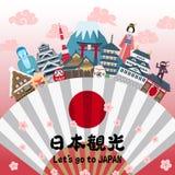 Japan impression poster Royalty Free Stock Photo