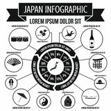 Japan infographic elements, simple style. Japan infographic elements in simple style for any design vector illustration