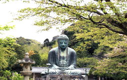 Japan, Kamakura, Great Buddha Stock Images