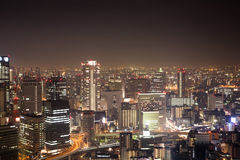 Japan Kansai Osaka City Night Stock Photography