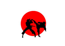 Japan karate flag Stock Photography