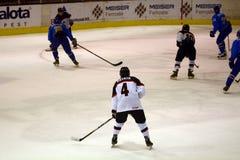 Japan - Kazahstan U 20 ice hockey match Royalty Free Stock Photos