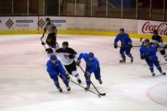 Japan - Kazahstan U 20 ice hockey match Royalty Free Stock Photo