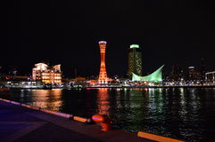 Japan Kobe nattsikt Fotografering för Bildbyråer