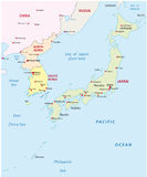Japan Korea map Stock Photography
