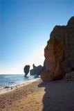 japan kształtuje teren skalistego morze Zdjęcie Royalty Free