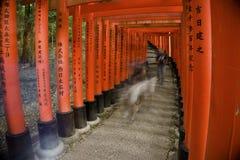 Japan, Kyoto, das Torii von Fushimi Inari Taisha, traditionelle Eingangsportale stockfotos