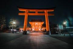 japan kyoto 2017 Fushimi Inari Taisha ingång Arkivfoton