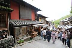 Japan Kyoto gatasikt royaltyfria bilder