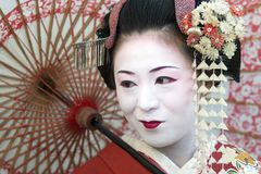 Japan - Kyoto - The Gion neighborhood and geisha. Japan - Kyoto - The Gion neighborhood - before marriage tradition want that woman live for one day a geisha stock image