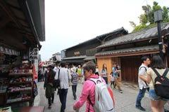 Japan Kyoto Kiyomizudera tempel Royaltyfri Fotografi
