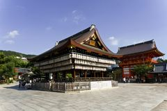Japan, Kyoto, Maruyama Park and its temples Royalty Free Stock Images