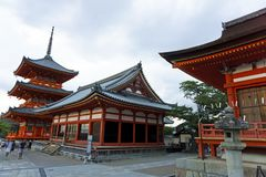 Japan, Kyoto, Maruyama Park and its temples. Seen from the outside Stock Images