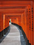 Japan Kyoto temple TORII GATES. In autumm Stock Photography