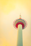 Japan Kyoto Tower .  ( Filtered image processed vintage effect. Stock Photo