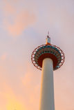 Japan Kyoto Tower .  ( Filtered image processed vintage effect. Stock Photography