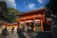 Japan- - Kyoto- - Yasaka-Tempel Cerebration lizenzfreies stockbild