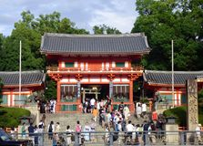 JAPAN. Kyoto. Yasaka Temple. Built in the 13th century, it is dedicated to Susanô, the God of the oceans Stock Images