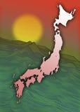 Japan - Land van de het Toenemen Zon Stock Afbeeldingen