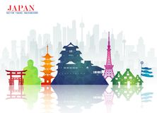 Free Japan Landmark Global Travel And Journey Paper Background. Vector Design Template.used For Your Advertisement, Book, Banner, Temp Stock Image - 117183401
