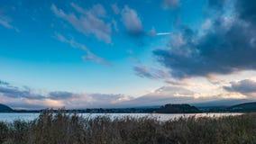Japan landscape with Mount Fuji and Lake Kawaguchi Stock Image