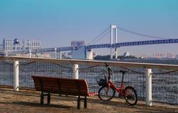 Japan landscape in Tokyo Bay Royalty Free Stock Images