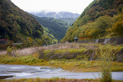 Japan-Landschaft in Kameoka, Kyoto, Japan Stockfotos