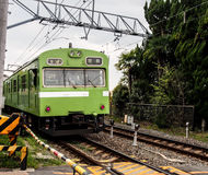 Japan local train Stock Photo