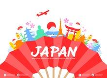 Japan loppgränsmärken Arkivbild