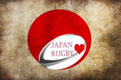 Japan loves rugby flag Royalty Free Stock Images
