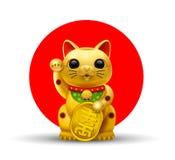 Japan lycklig kattgolg royaltyfri illustrationer