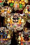 Japan lyckliga Kumade krattar den Hikawa jinjarelikskrin Royaltyfri Fotografi