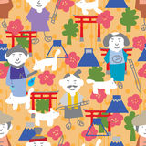 Japan man Japanese element seamless pattern Royalty Free Stock Photography