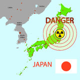 Japan map Stock Photo