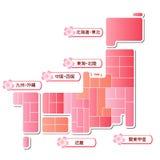 Japan map Stock Photo