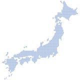 Japan map dots. Japan map formed by dots. Vector illustration Royalty Free Stock Photo