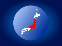 Japan map flag sphere Royalty Free Stock Image