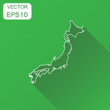 Japan map icon. Business cartography concept outline Japan picto Stock Photos