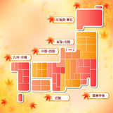 Japan map Royalty Free Stock Images