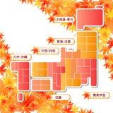 Japan map Stock Image