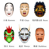 Japan masks III Royalty Free Stock Photos