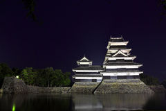 Japan : Matsumoto Castle at Night  Royalty Free Stock Photography