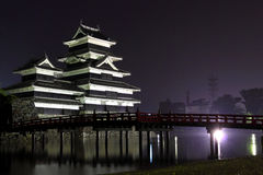 Japan : Matsumoto Castle at Night  Stock Photography