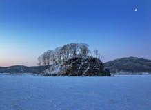 Japan-Meer. Winter 2 Stockbild