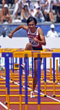 Japan mit 110 Meterhürdemännern yazawa Lack-Läufer Lizenzfreies Stockfoto