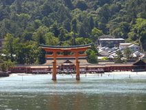 japan Miyajima Grote torii Royalty-vrije Stock Afbeelding