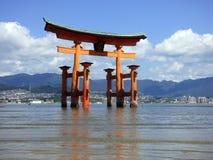 japan Miyajima Grote torii Stock Fotografie