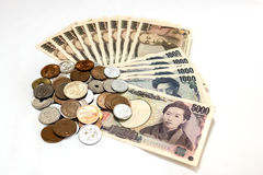 Japan money on white background Royalty Free Stock Image